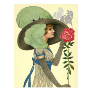 Kentucky Derby Hat & Rose Postcards Horse Racing