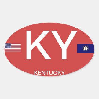 Kentucky* Euro-style Oval Sticker