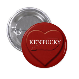 Kentucky Heart Map Design Button