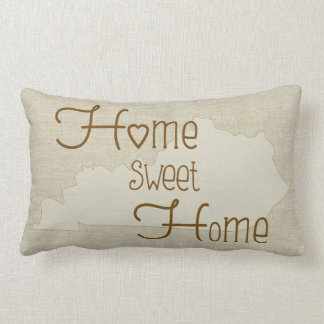 Kentucky-Home Sweet Home burlap-look custom name Lumbar Cushion