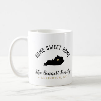 Kentucky Home Sweet Home Family Monogram Mug
