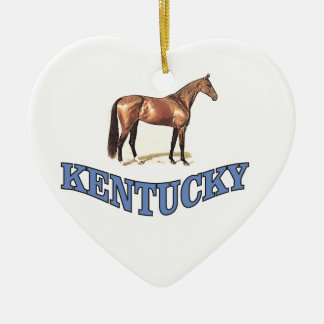 Kentucky horse ceramic ornament