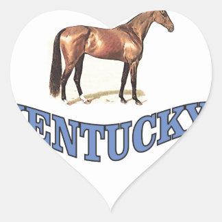 Kentucky horse heart sticker