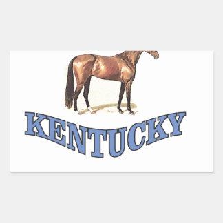 Kentucky horse rectangular sticker