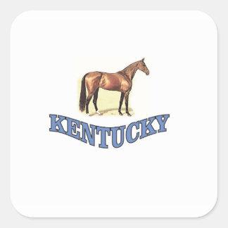 Kentucky horse square sticker