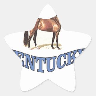 Kentucky horse star sticker