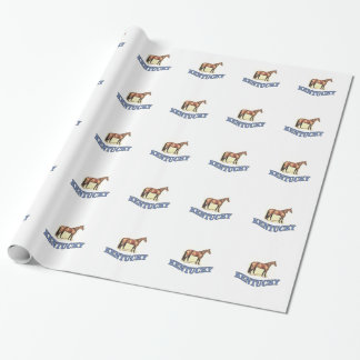 Kentucky horse wrapping paper