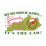Kentucky Ice Cream Law Postcard