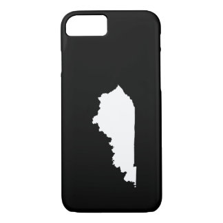 Kentucky in White and Black iPhone 8/7 Case