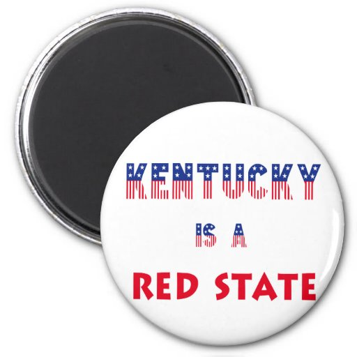 Kentucky is a Red State Refrigerator Magnet