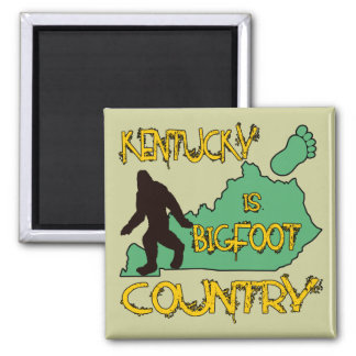Kentucky Is Bigfoot Country Square Magnet