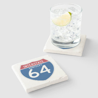 Kentucky KY I-64 Interstate Highway Shield - Stone Coaster