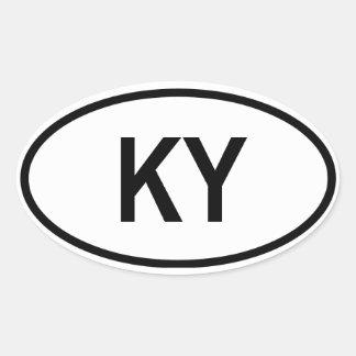 "Kentucky ""KY"" Oval Sticker"