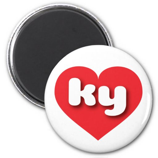 Kentucky ky red heart magnets