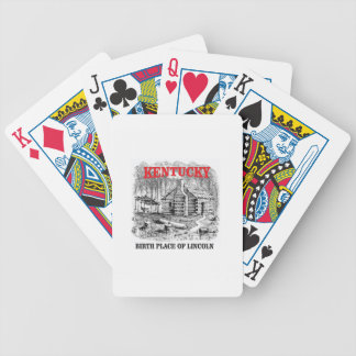 Kentucky Lincolns birthplace Bicycle Playing Cards