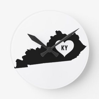 Kentucky Love Round Clock