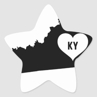 Kentucky Love Star Sticker