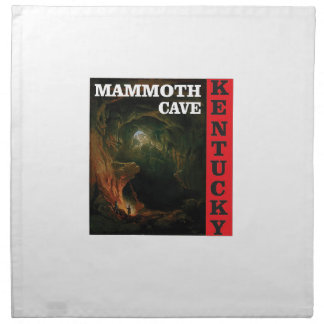 Kentucky mammoth cave napkin