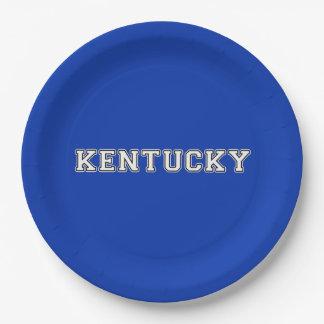Kentucky Paper Plate