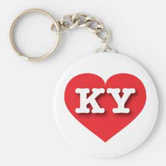 Kentucky Red Heart - Big Love Basic Round Button Key Ring