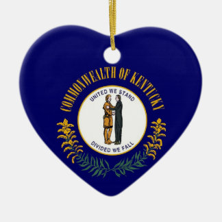 Kentucky State Flag Ceramic Ornament