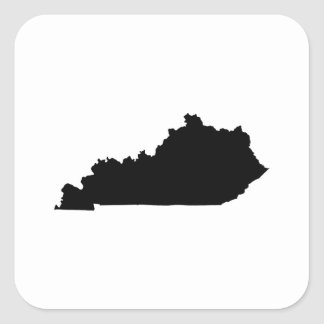 Kentucky state Outline Square Sticker
