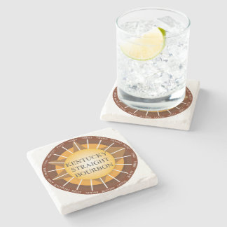 Kentucky Straight Bourbon Whisky Marble Coaster