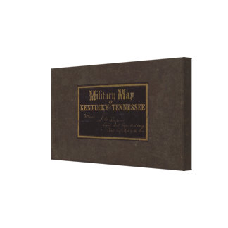 Kentucky Tennessee military map Gallery Wrapped Canvas