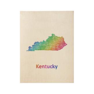 Kentucky Wood Poster