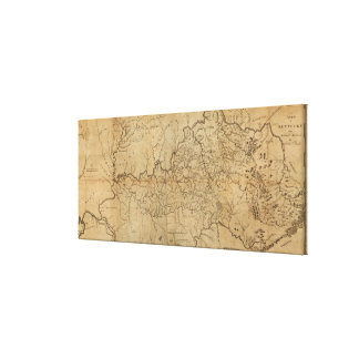 KentuckyPanoramic MapKentucky Canvas Print