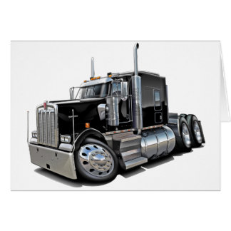Kenworth w900 Black Truck Card
