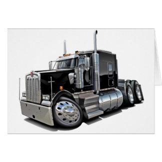 Kenworth w900 Black Truck Card