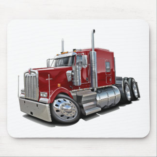 Kenworth w900 Maroon Truck Mouse Pad