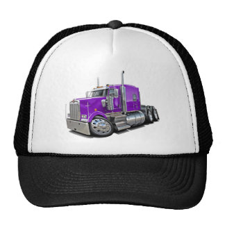 Kenworth w900 Purple Truck Trucker Hat
