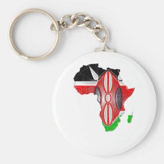 Kenya Basic Round Button Key Ring
