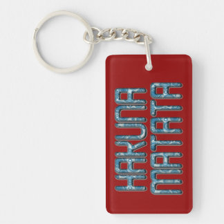 Kenya Beautiful Unleashed Hakuna Matata Design art Single-Sided Rectangular Acrylic Key Ring
