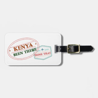 Kenya Been There Done That Luggage Tag