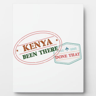 Kenya Been There Done That Plaque