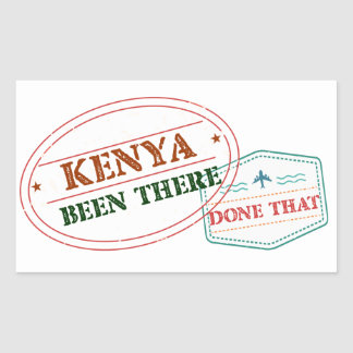 Kenya Been There Done That Rectangular Sticker