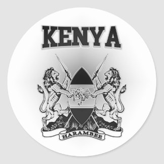 Kenya Coat of Arms Classic Round Sticker