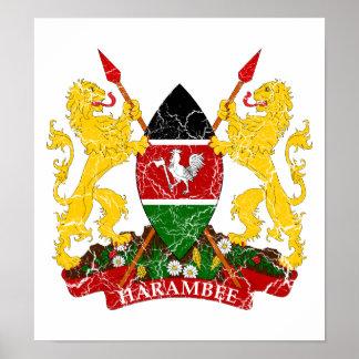 Kenya Coat Of Arms Poster