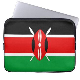 Kenya country long flag nation symbol republic laptop computer sleeves