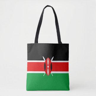 Kenya country long flag nation symbol republic tote bag