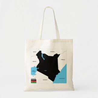 kenya country political map flag canvas bag