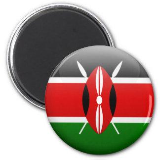 Kenya Flag 6 Cm Round Magnet