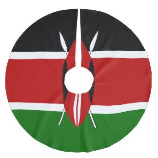 Kenya Flag Brushed Polyester Tree Skirt