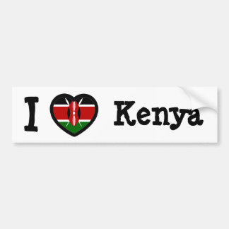Kenya Flag Bumper Sticker