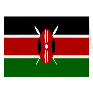 Kenya Flag Greeting Card