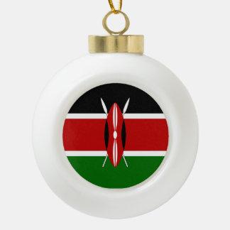 Kenya Flag Ceramic Ball Christmas Ornament