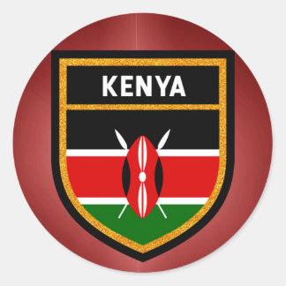 Kenya Flag Classic Round Sticker